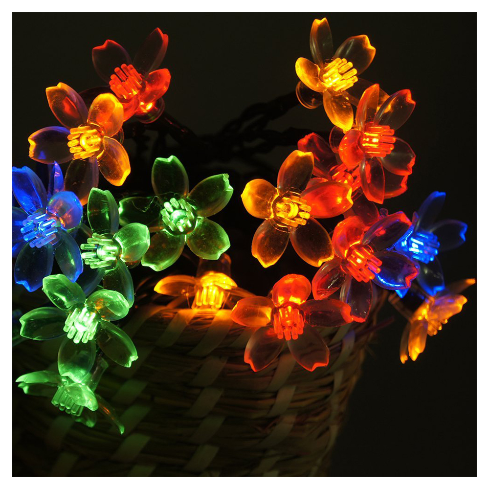 Solar Flower String Lights Outdoor Fairy 20 Led Blossom Lighting for Garden BT eBay
