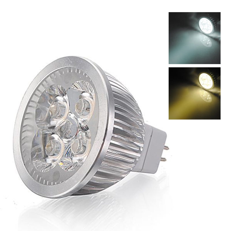a1 10x mr16 4w 4 led scheinwerfer licht lampen birne 12v weisses licht ebay. Black Bedroom Furniture Sets. Home Design Ideas