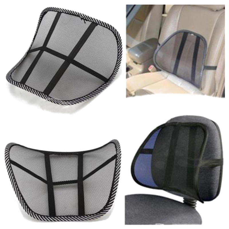 mesh lumbar back brace support chair cushion seat waist