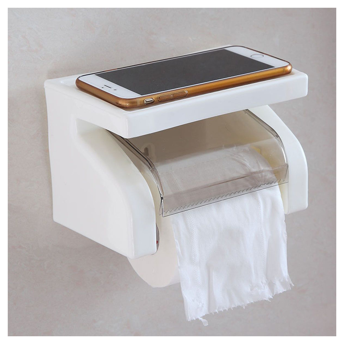 Waterproof toilet paper holder tissue roll stand box with shelf rack bathroom t1 ebay - Tissue holder bathroom ...