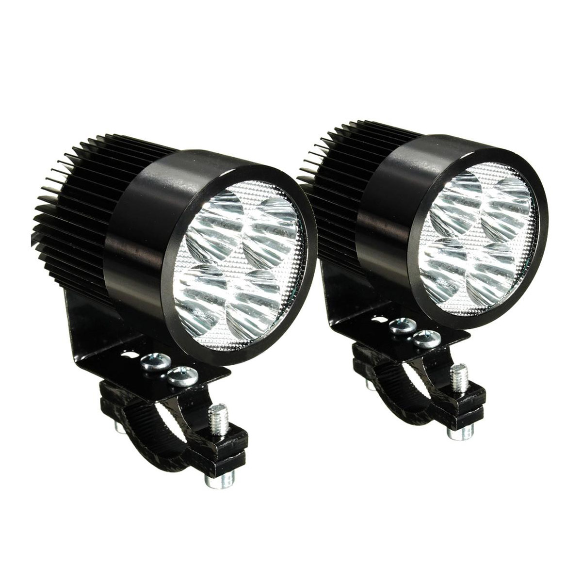 2 x universal motorrad osram led front punkt licht scheinwerfer lampen 12 2 dkko ebay. Black Bedroom Furniture Sets. Home Design Ideas