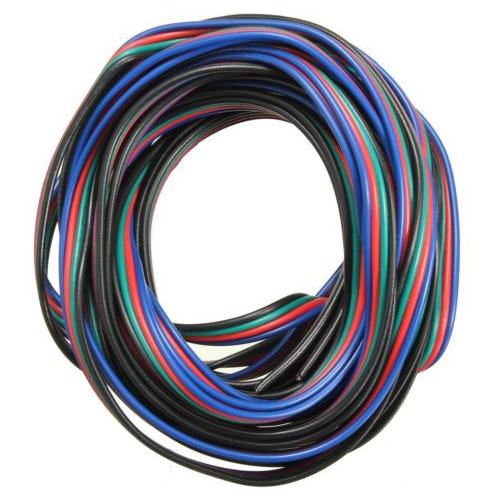 4 pin draht verbindungs kabel fur led rgb streifen 3528 5050 anschluss bunt u7c5 ebay. Black Bedroom Furniture Sets. Home Design Ideas