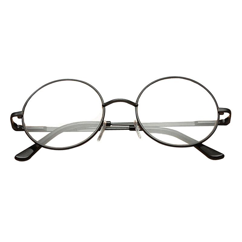Black Metal Rimmed Reading Glasses Retro Round Frame ...