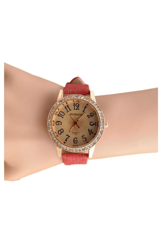 womage damenuhr quarz uhr diamanten zifferblatt armbanduhr. Black Bedroom Furniture Sets. Home Design Ideas