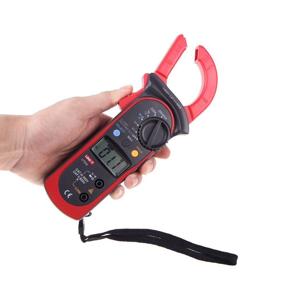 A Digital Clamp Meter 400 : Uni t ut  a digital clamp meters w temperature