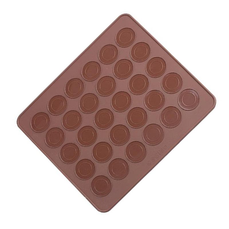 bandeja de hornear de silicona para macarons color del cafe cu