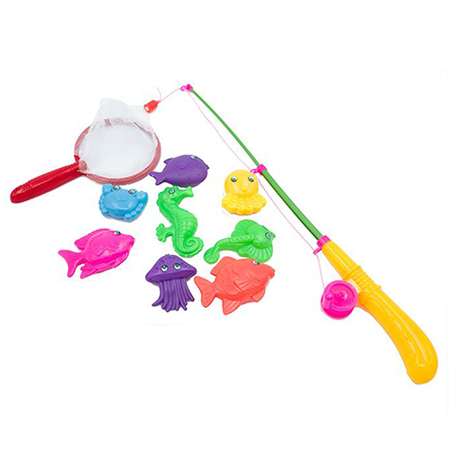 Fishing Game Toy : Magnetic fishing game toy makes kids children bath time