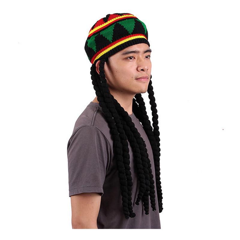 Knitting Pattern Rastafarian Beanie : Rhasta Rasta Hat Jamaica Beanie Knit Crochet Slouchy Bob Style Cap Green DT ...