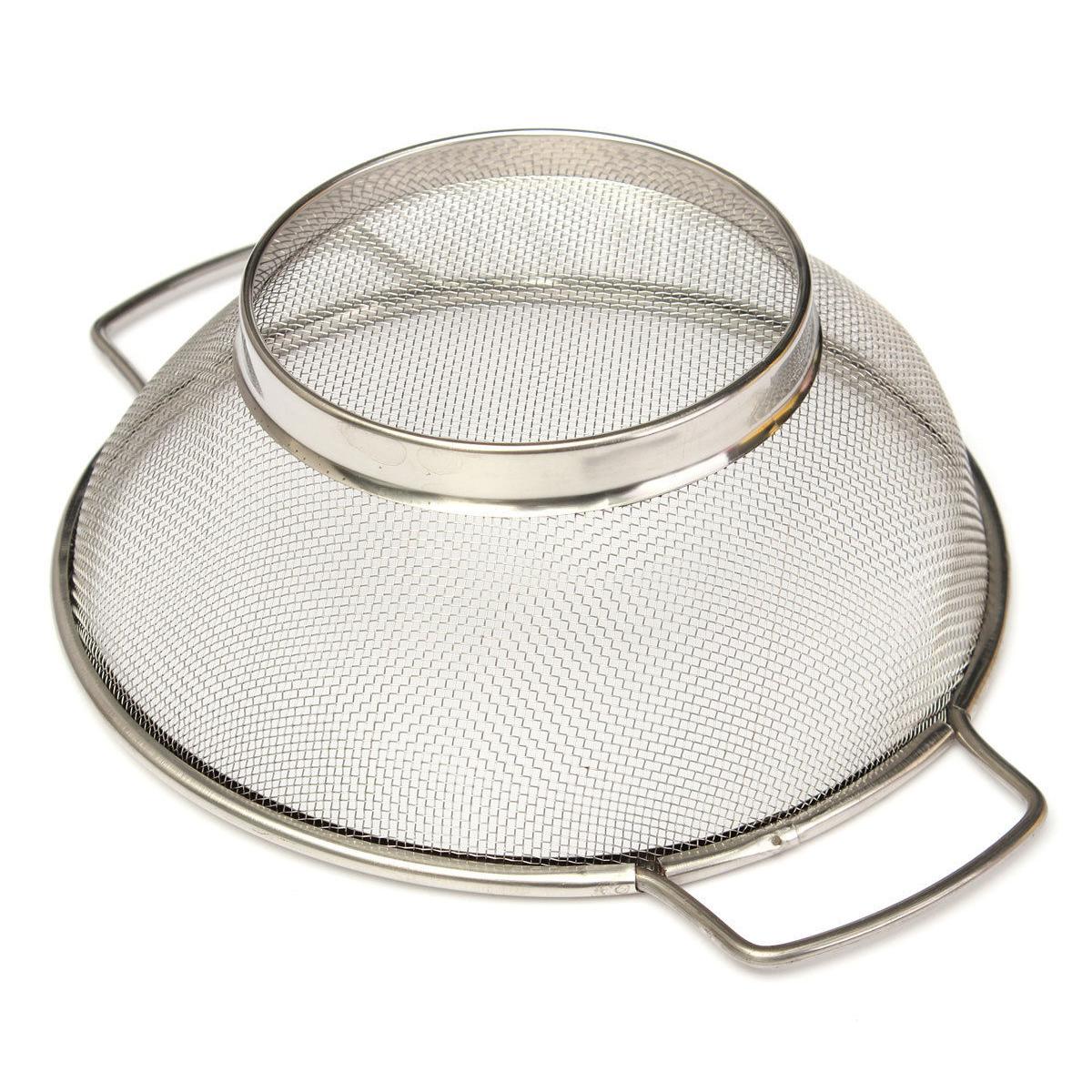 Stainless Steel Fine Mesh Strainer Bowl Drainer Sieve ...