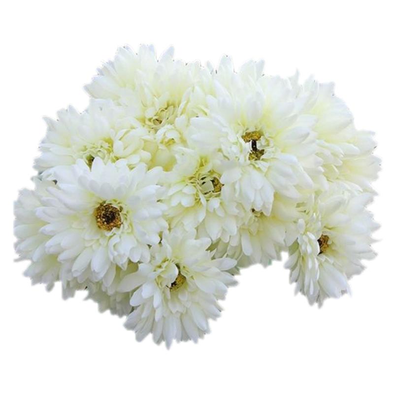 Gerbera Flower Wedding Bouquets: 10 PCS Artificial Silk Gerbera Daisy Flower Wedding Party