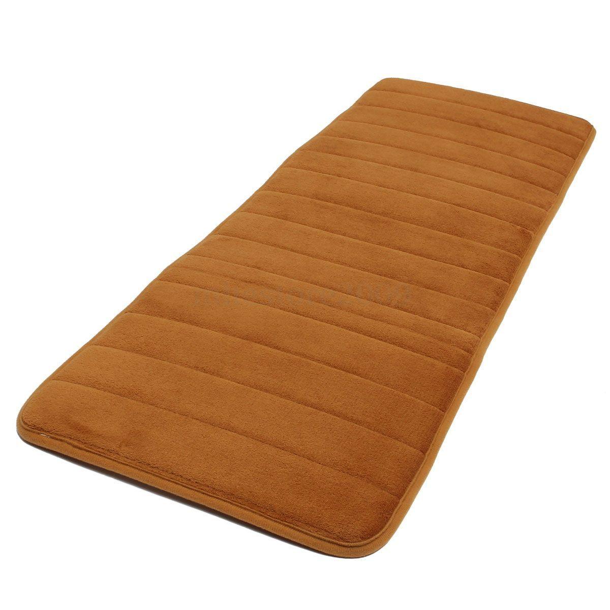 w6 120x40cm nonslip memory foam kitchen bedroom door floor mat carpet dark blue. Black Bedroom Furniture Sets. Home Design Ideas