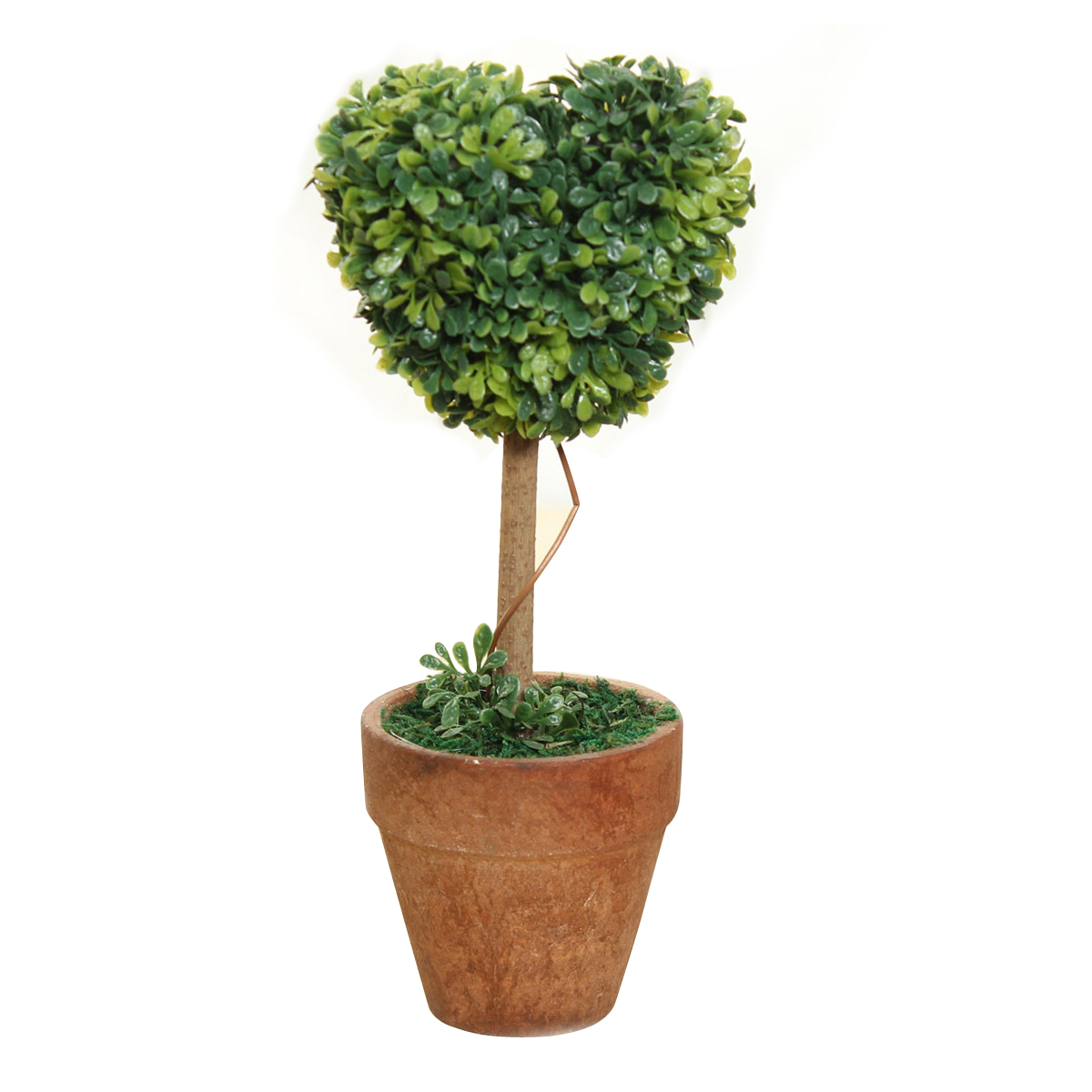 Plastic garden grass ball topiary tree pot dried plant for for Garden topiary trees