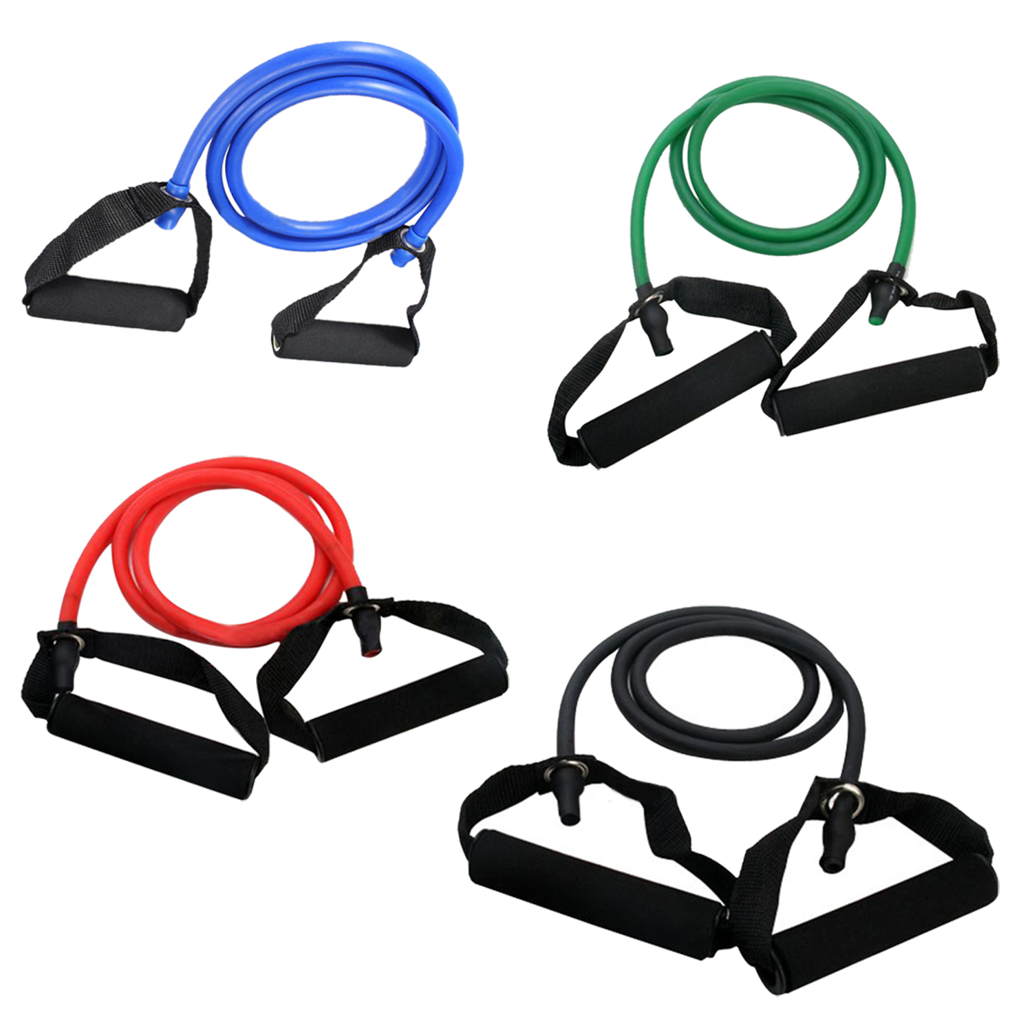 Exercise Resistance Bands Set Yoga Fitness Workout Stretch