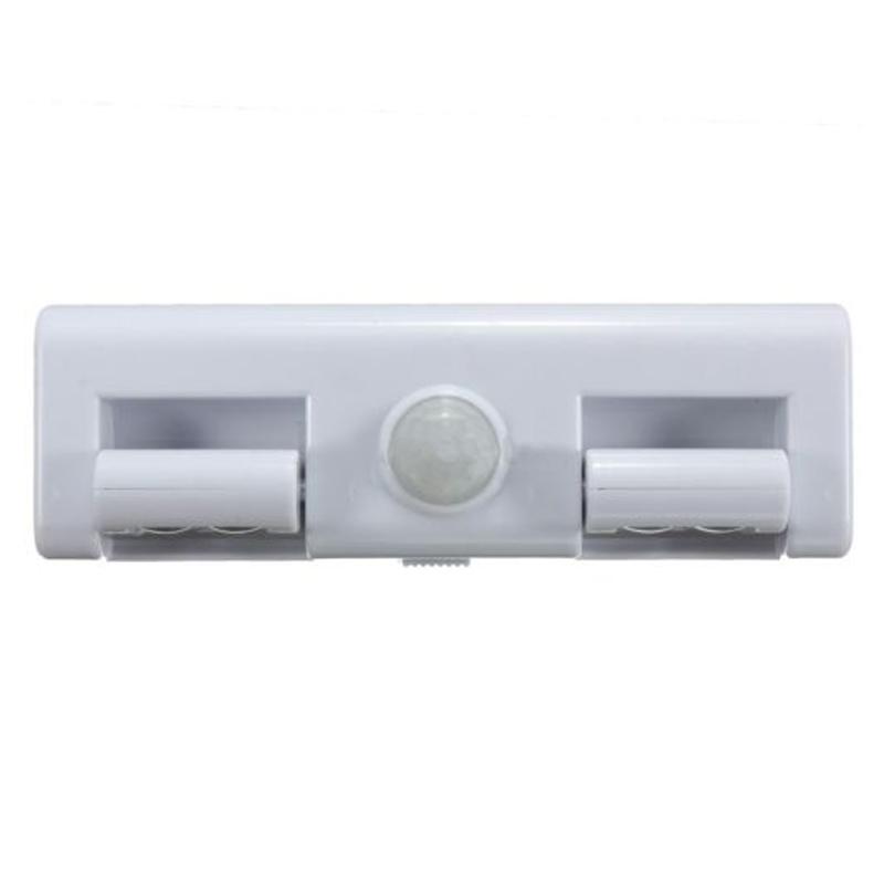 white 8 led motion sensor light pir cupboard cabinet