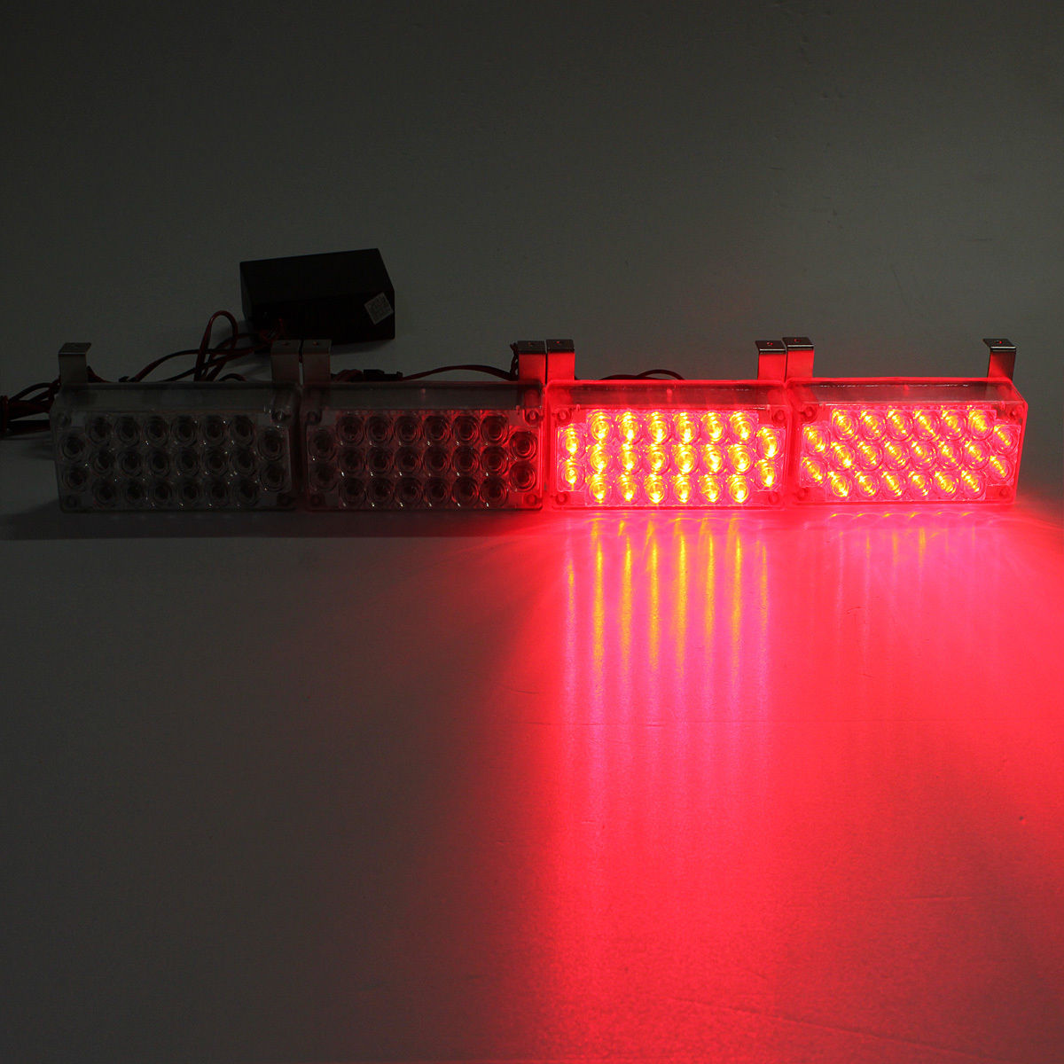 4 x 22 led flashing emergency warning light grill strobe. Black Bedroom Furniture Sets. Home Design Ideas