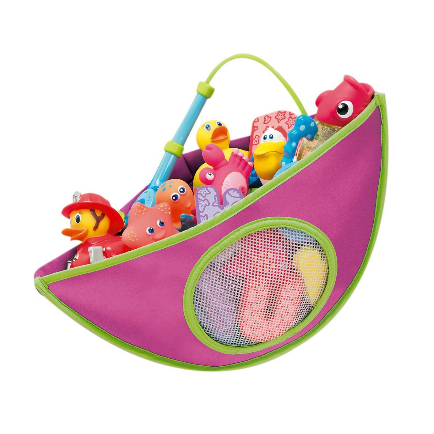 Organizador de juguete de bebe de bano de esquina azul - Juguetes bano bebe ...