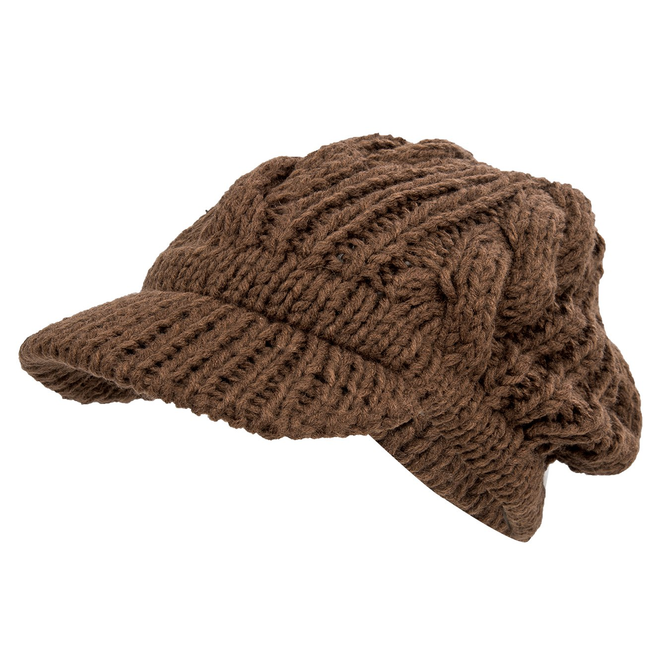 Women Slouchy Cabled Pattern Knit Beanie Crochet Rib Hat Warm HY eBay