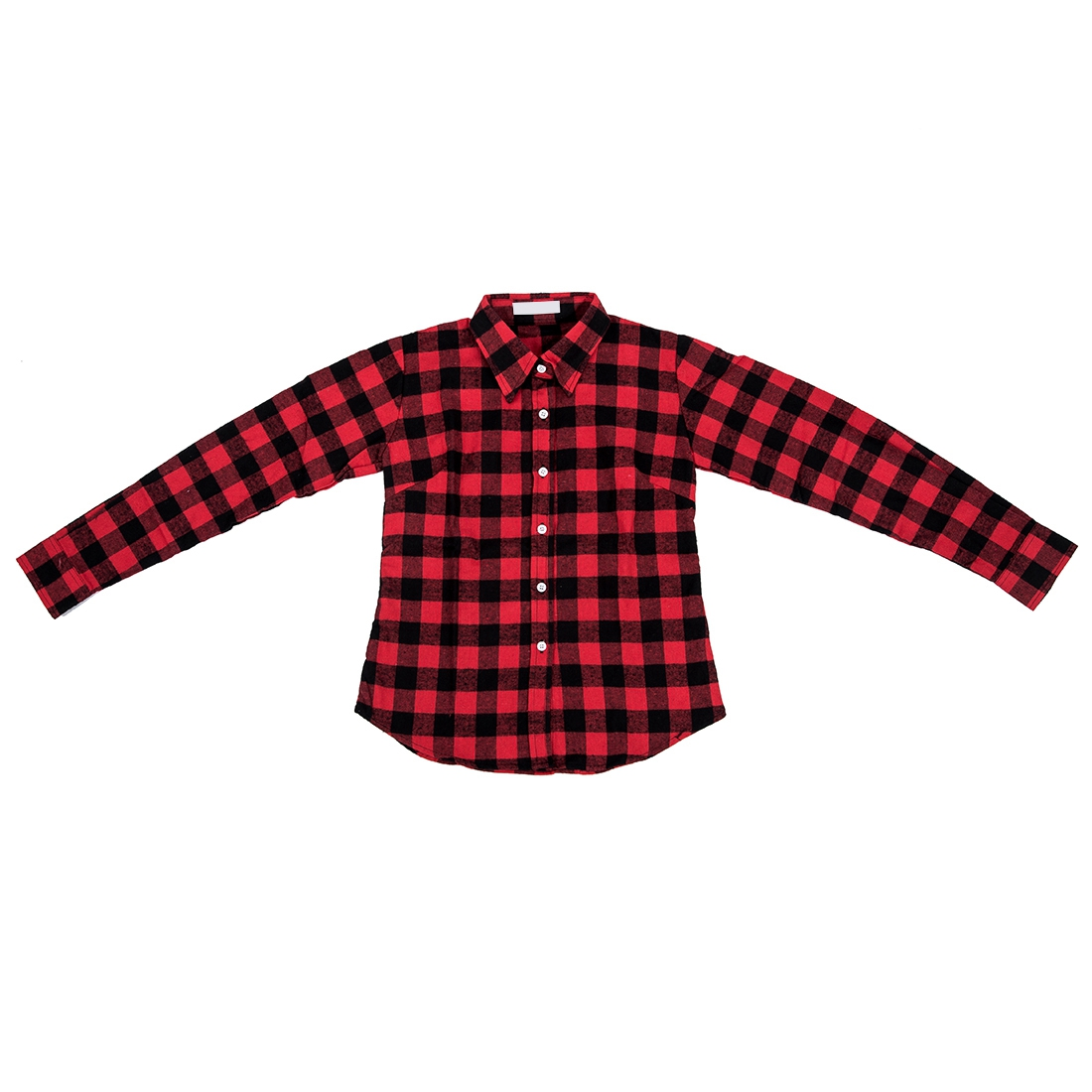 Cs498 womens shirt flannel shirts tops blouse red black Womens red plaid shirts blouses