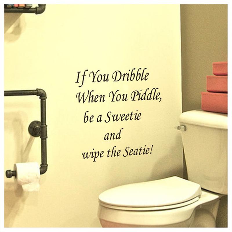 New fashion toilet seat wall sticker vinyl art bathroom for New style washroom