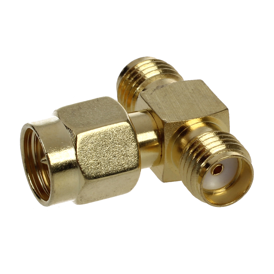 Rf Cable Connectors : Sma male to two female triple t rf adapter connector
