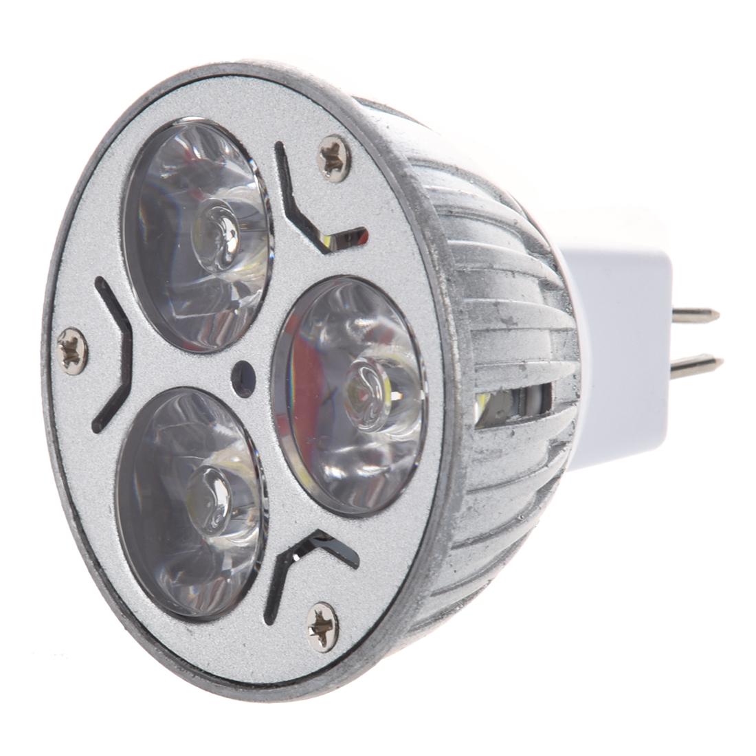 Mr16 Led Wattage: MR16 3x1 Watt LED Spot Light Bulb 20W White For Track
