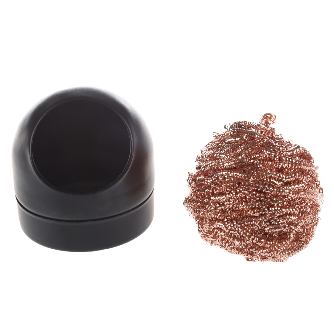 soldering iron tip cleaning wire nozzle cleaner sponge ball w storage holder ad. Black Bedroom Furniture Sets. Home Design Ideas