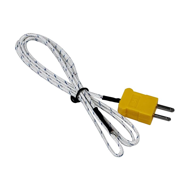 K Type 2 Flat Pin Thermocouple Wire Temperature Sensor F2X8 ...