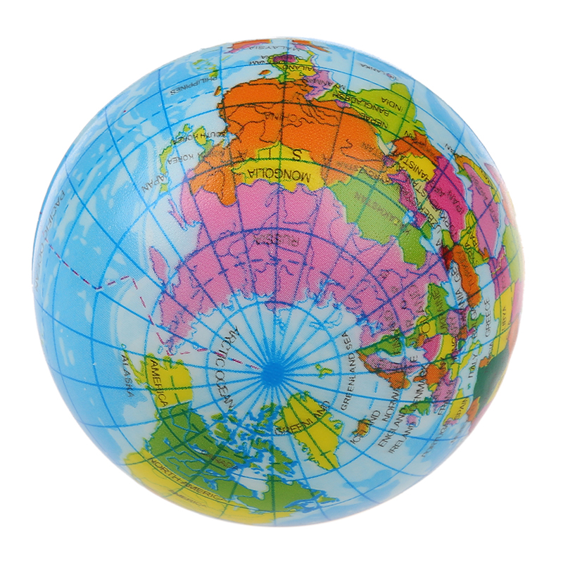 New world map foam earth globe stress relief bouncy ball atlas new world map foam earth globe stress relief gumiabroncs Gallery