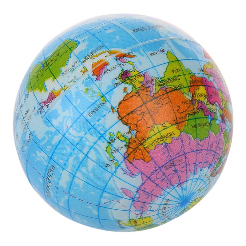 New world map foam earth globe stress relief bouncy ball atlas image is loading new world map foam earth globe stress relief gumiabroncs Gallery