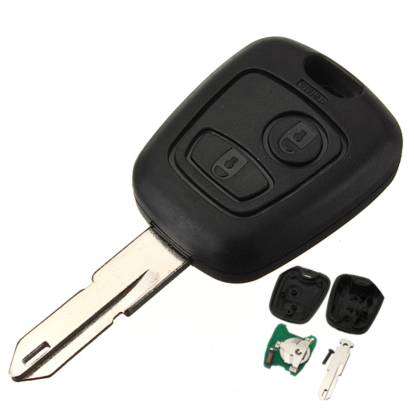 433mhz remote key fob 2 button blade w transponder chip. Black Bedroom Furniture Sets. Home Design Ideas