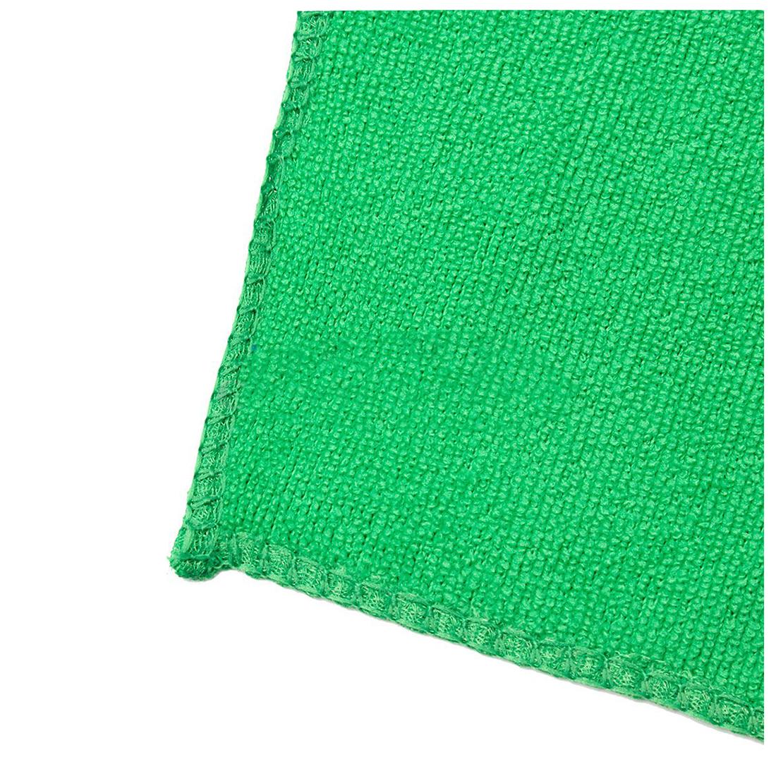 Green Microfiber Towel: 10pcs Towels Cleaning Towel Car Washing Cloth Microfiber