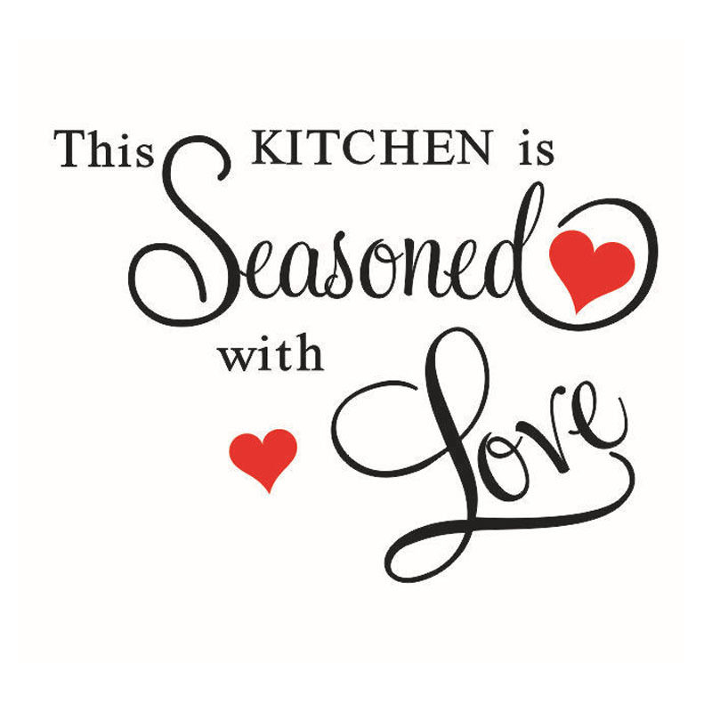 Download THIS KITCHEN IS SEASONED WITH LOVE Wall Sticker ART Home ...