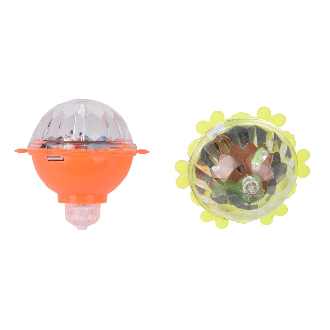Juguete peonza de plastico luz flash colorido amarillo for Juguetes de plastico