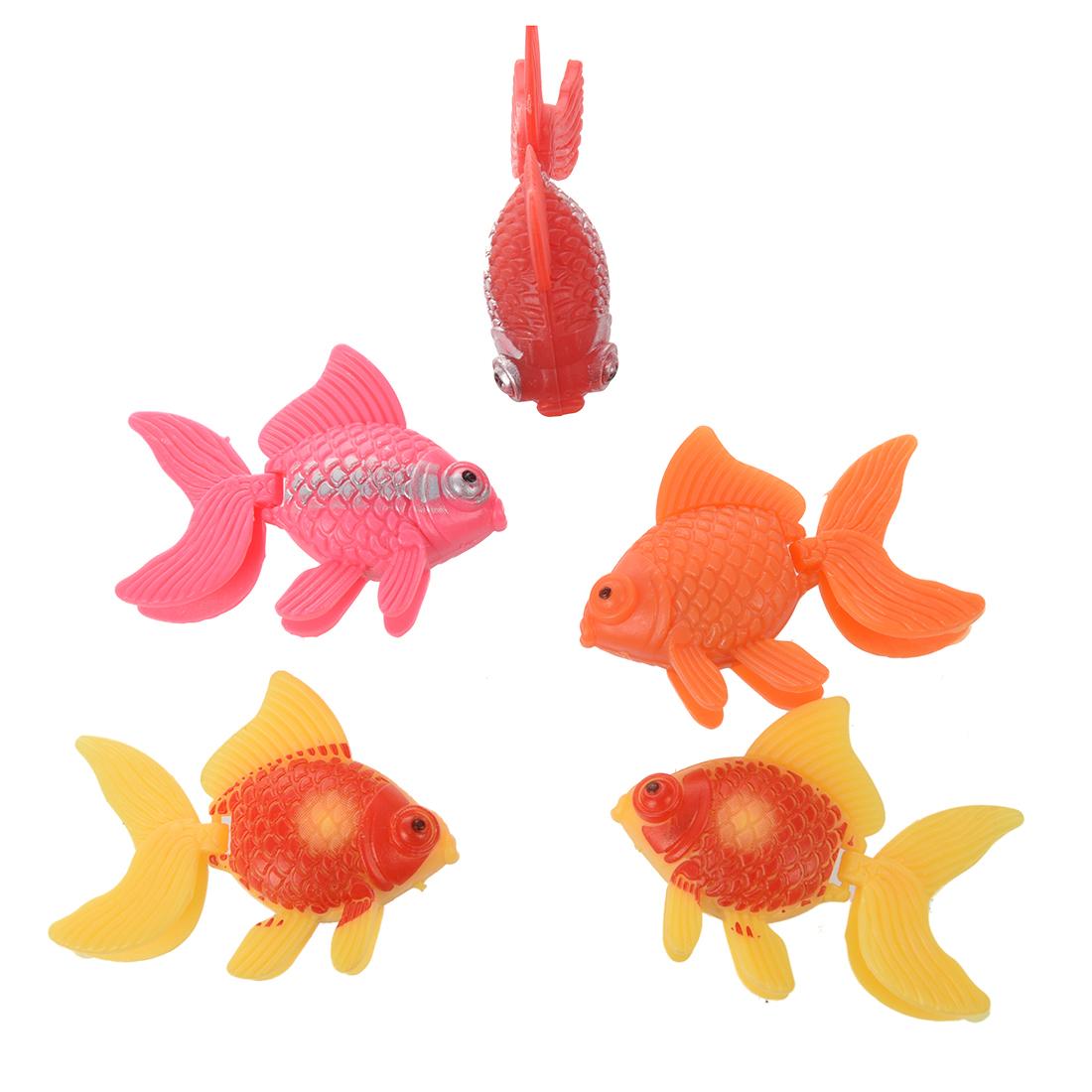 5pzs peces de acuario de ornamento de plastico artificial for Peces artificiales para acuarios