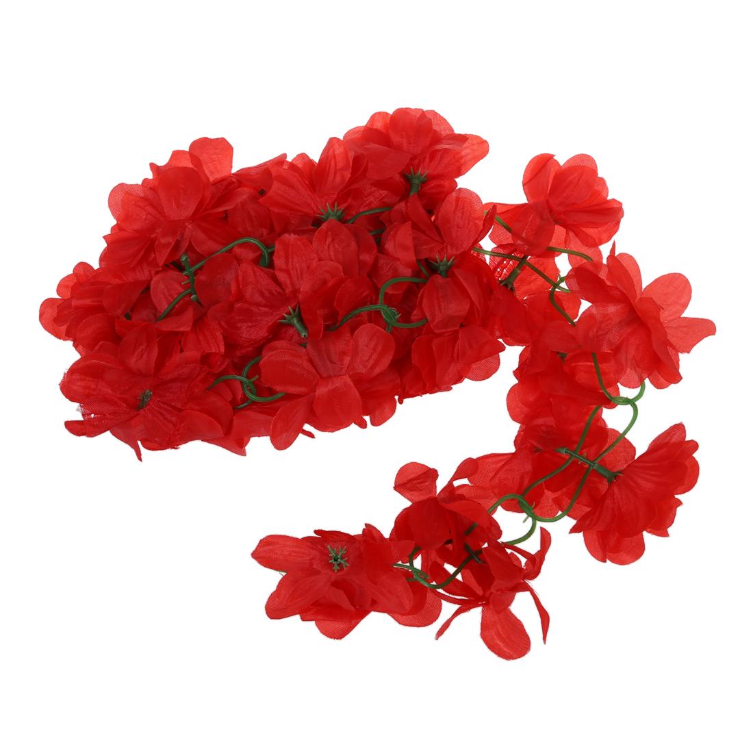 5x k nstliche azalee girlande blume reben hochzeit garten for Dekoration in rot