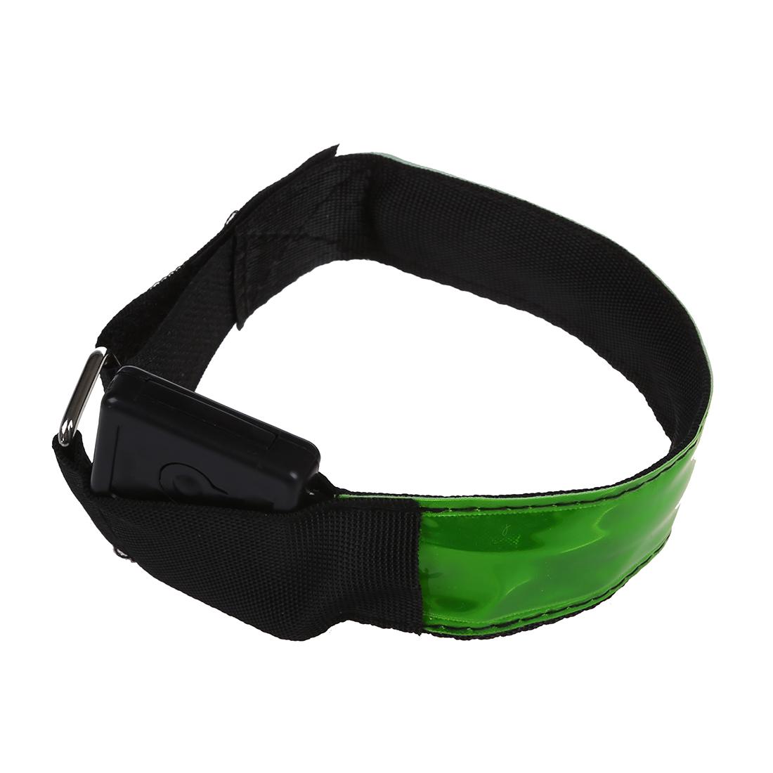 Banda-de-brazo-de-intermitente-LED-reflexivo-ajustable-para-ciclismo-correr-N2M5