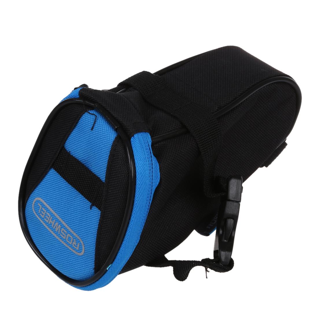Waterproof Bike Saddle Back Rear Seat Bag Black Blue