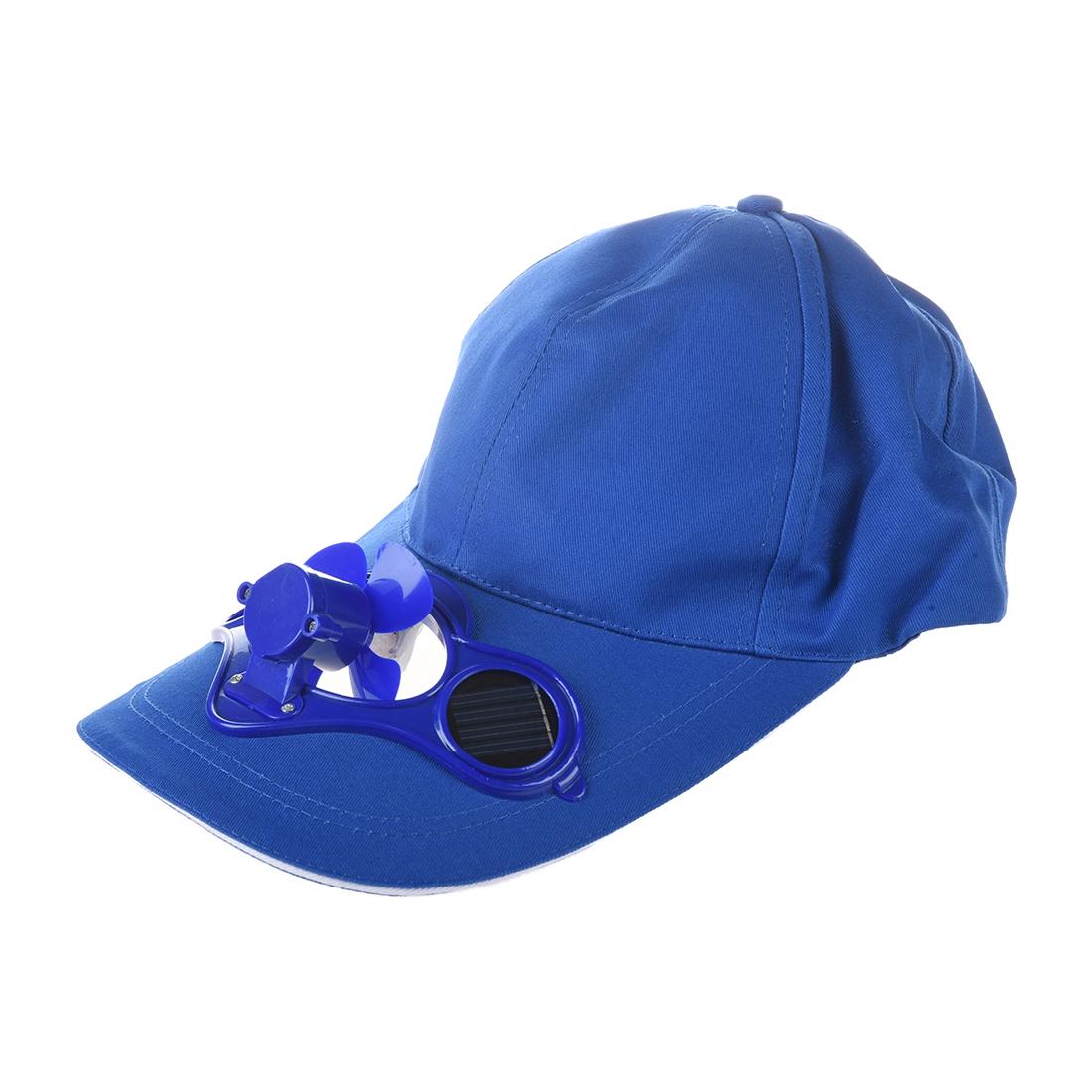 5x solar sun power hat cap cooling cool fan blue w2n9 ebay