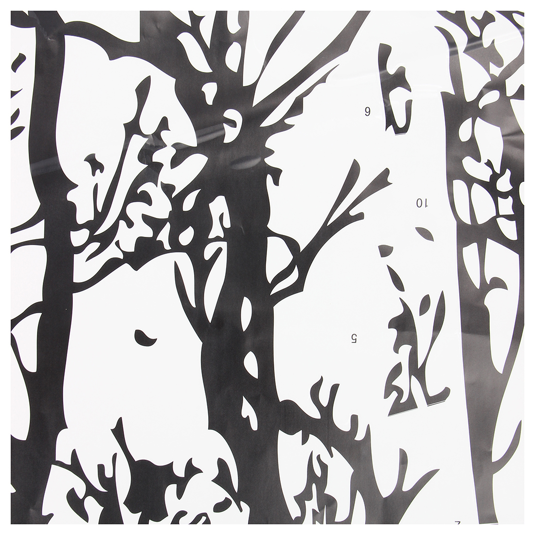 Z2g3 10x black tree branch pvc removable room art mural for Black tree mural