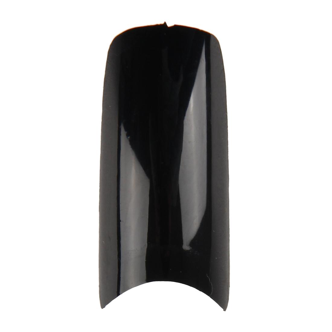 s2 500 x french nagel tips k nstliche fingernaegel schwarz. Black Bedroom Furniture Sets. Home Design Ideas
