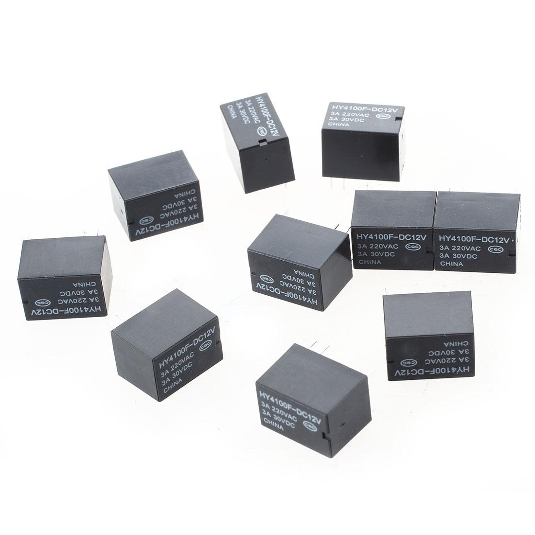 Pcs Mini Electronic Relays DC V Black TS - Switching voltage in relay