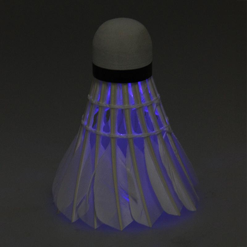 Dunkle Nacht Badminton mit LED Licht Beleuchtung 1 Satz von 3 Stuecken Blau
