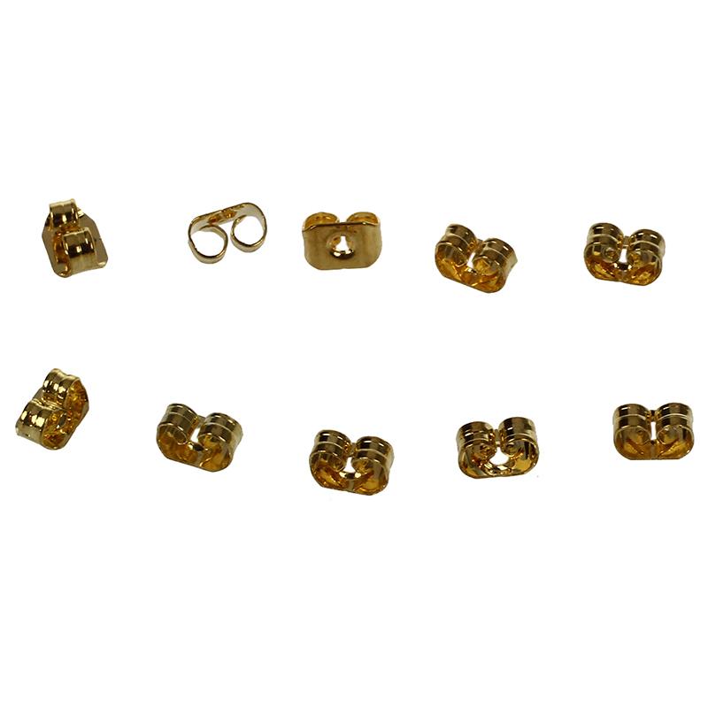 Aretes-rellenos-14K-oro-5-pares-Pernos-del-oido-G1R1