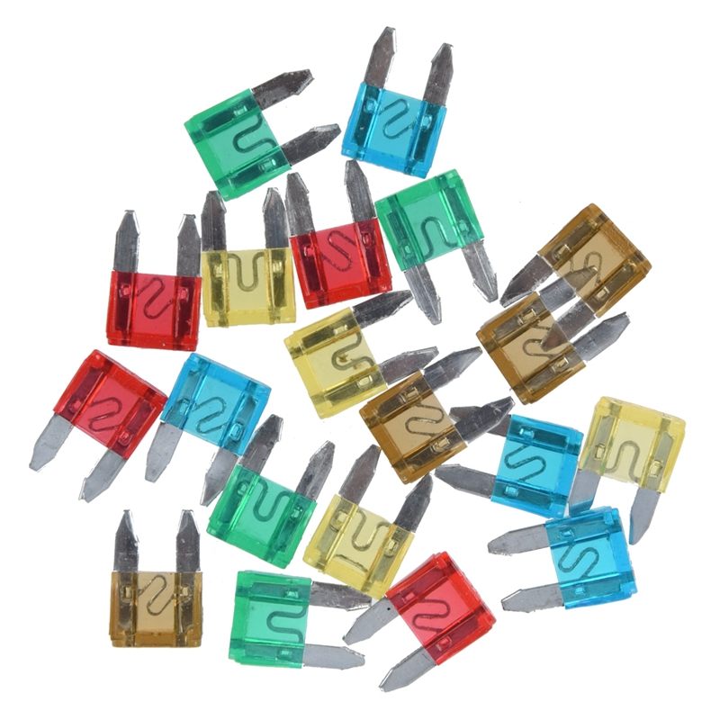 20 pcs Car Motorcycle Mini Fuses Blade Fuse Safety N6H1