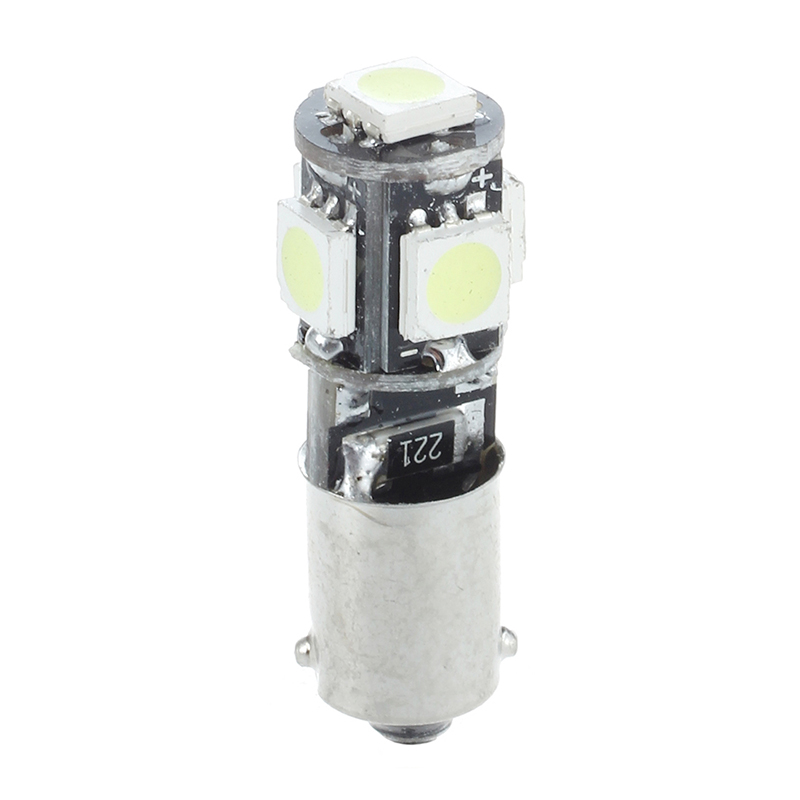 2x AMPOULE 5 LED 5050 SMD BA9S H6W T4W VEILLEUSE BLANC ANTI SANS ERREUR ODB K9S0