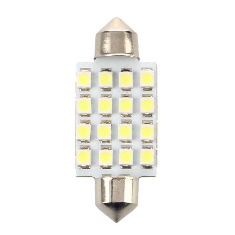10x 2 pcs car lamp soffitte indoor 42mm 16 smd led white. Black Bedroom Furniture Sets. Home Design Ideas