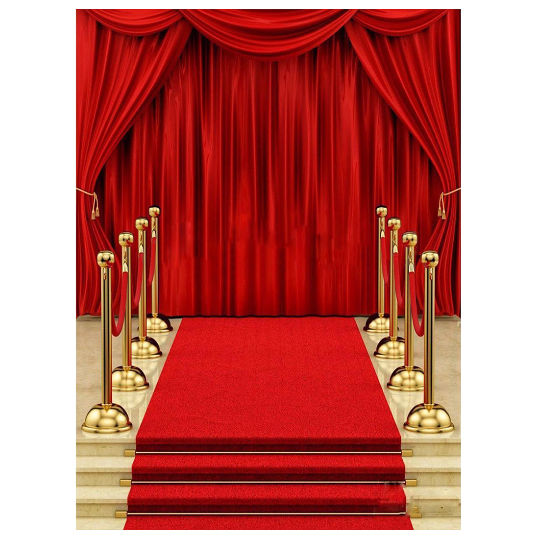 5x7ft vinyl red carpet curtain backdrop studio photography for Background curtain decoration