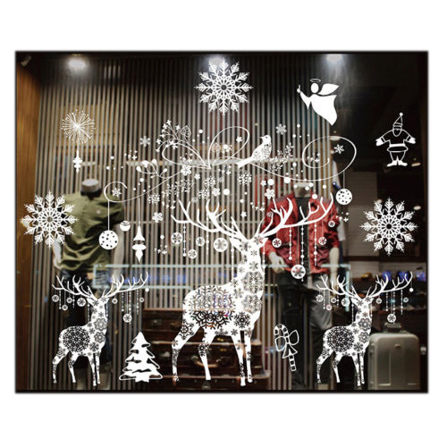Christmas Decorations For Home Windows: Christmas Wall Sticker Christmas Decorations For Home