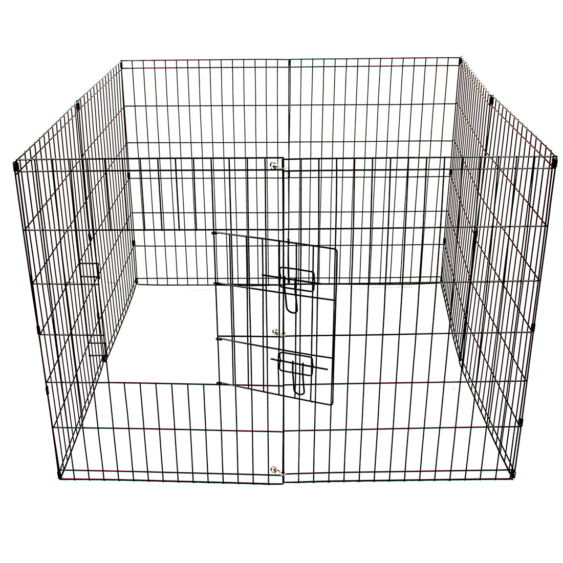 8 panel metal pet dog animal exercise playpen fence for Dog fence enclosure