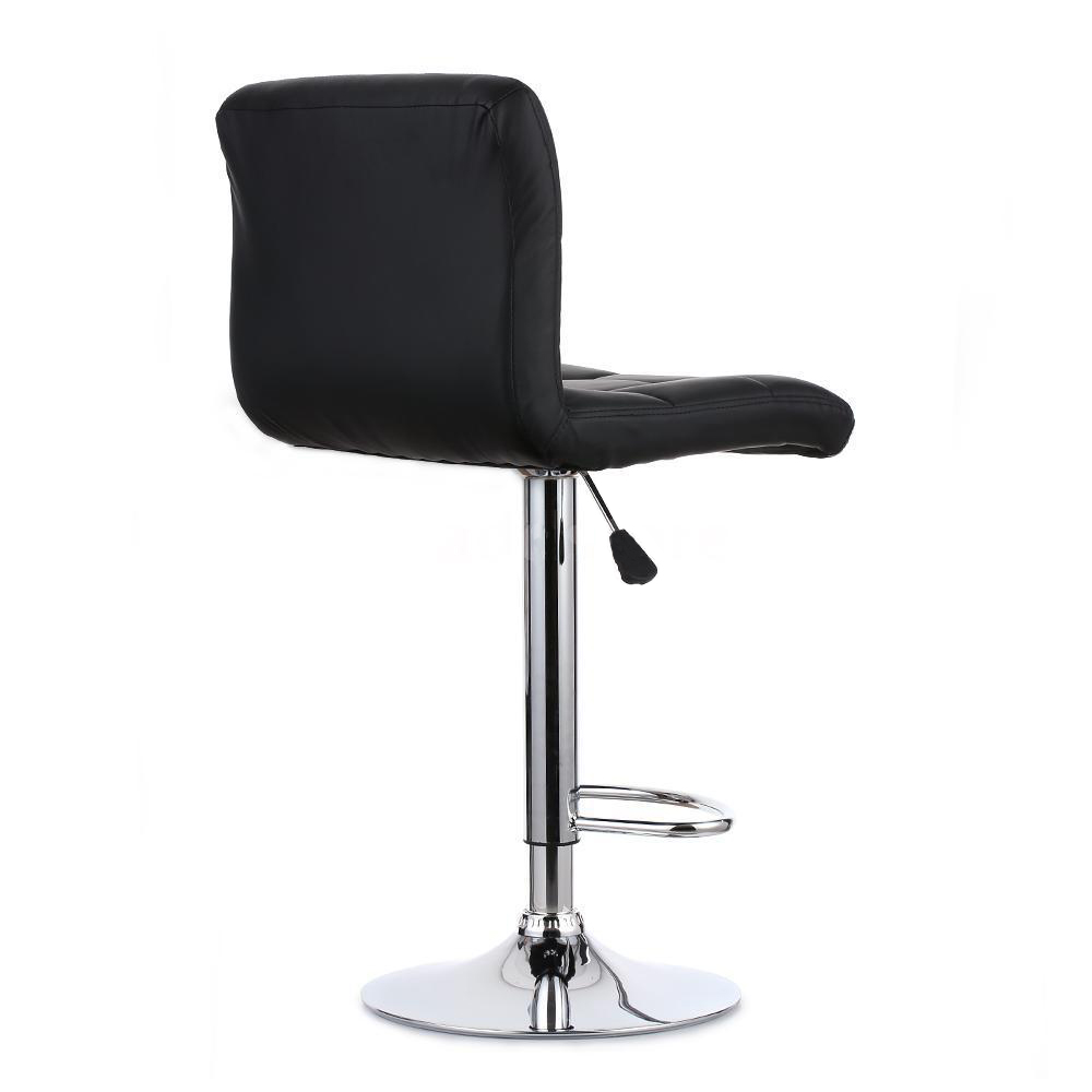 2pcs Pu Leather Swivel Bar Stools Chairs Adjustable Pub